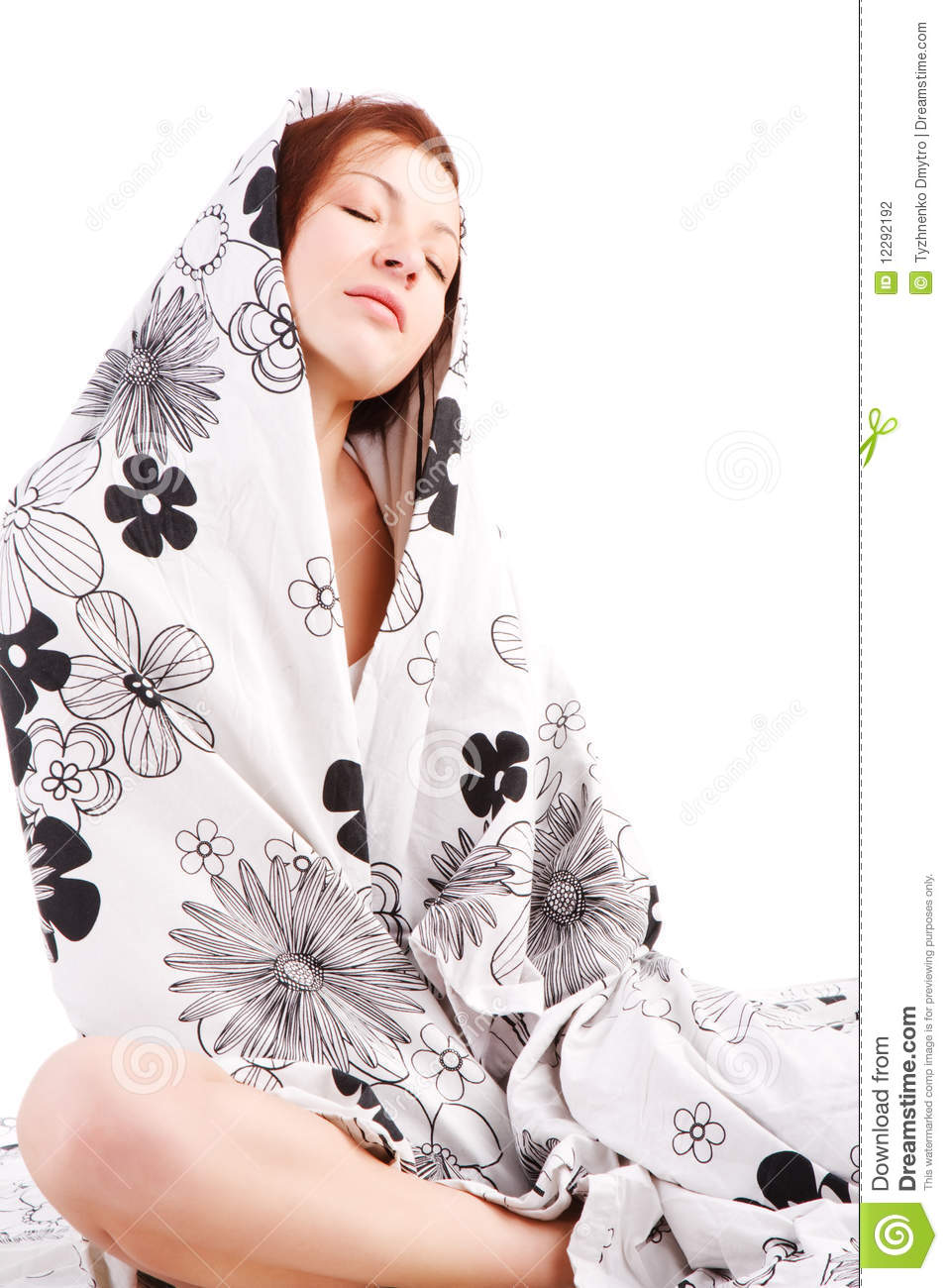 Young charming girl in bed stock photography image 12292192 - Charming teenage girls image ...