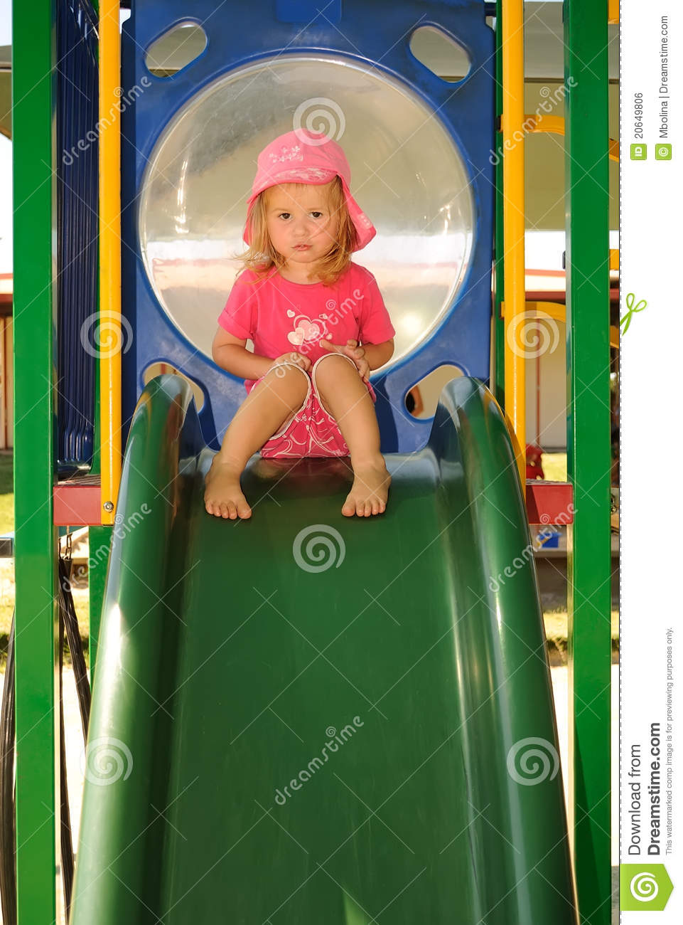 Lonely And Depressed >> Young Child Looking Sad On A Playground Slide Stock Photo - Image of emotional, calm: 20649806