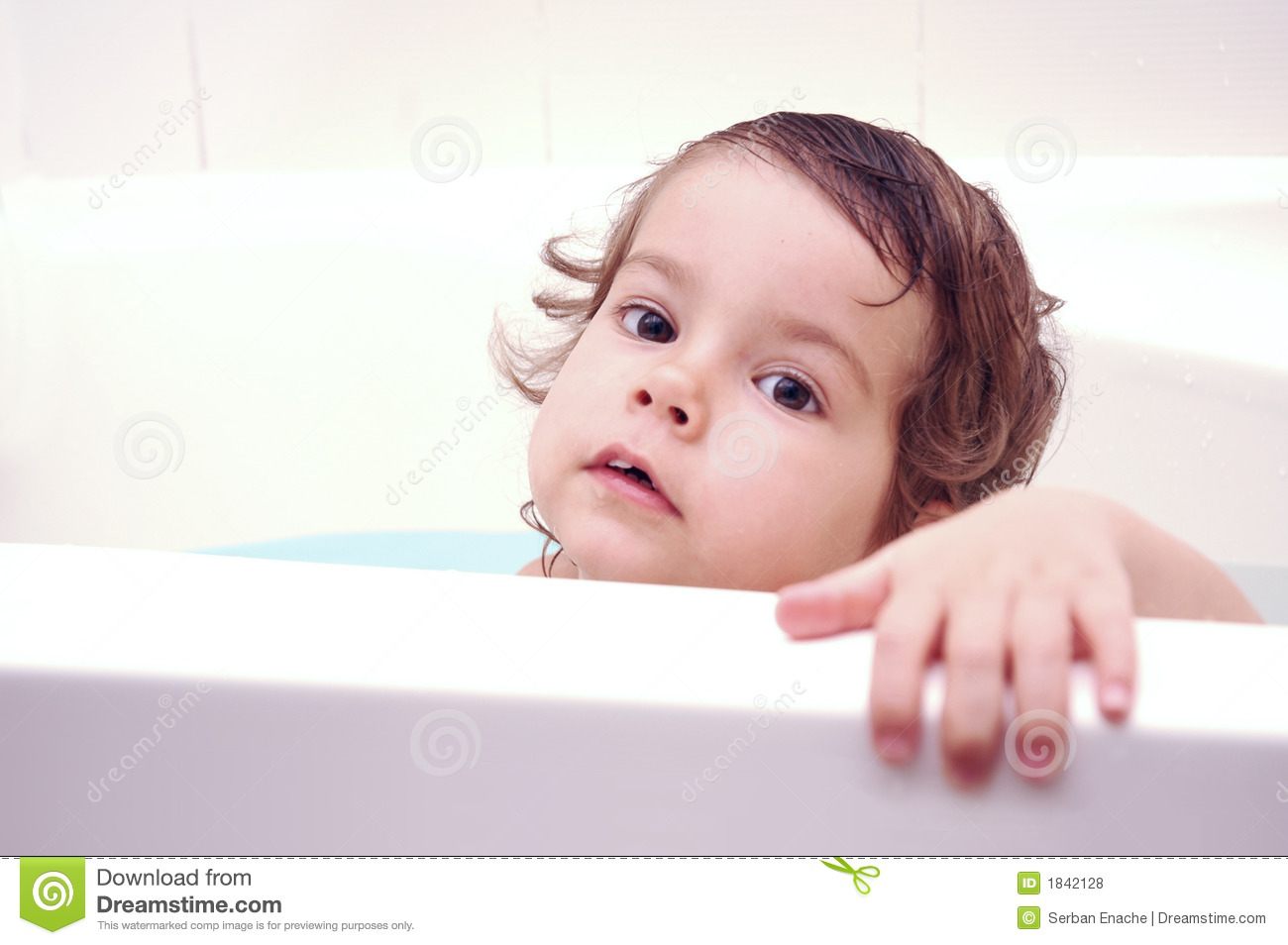 Young Child in Tub stock photo. Image of small, face, bath - 1842128