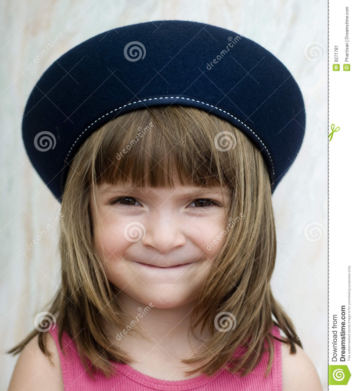 259b76cc572 Young Child Wearing French Beret Hat Stock Image - Image of pose ...