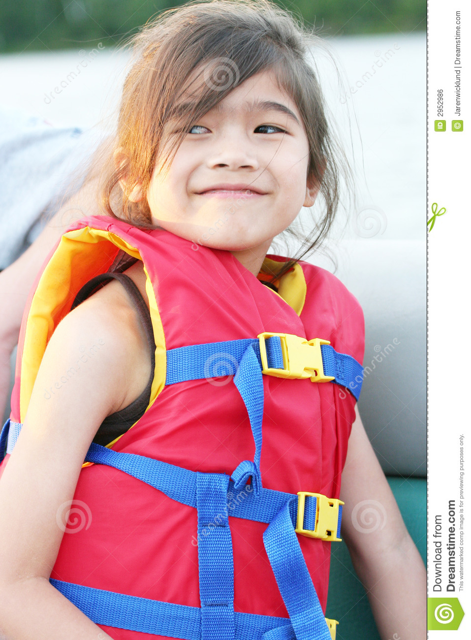 Young Child Wearing Life Vest Royalty Free Stock Image