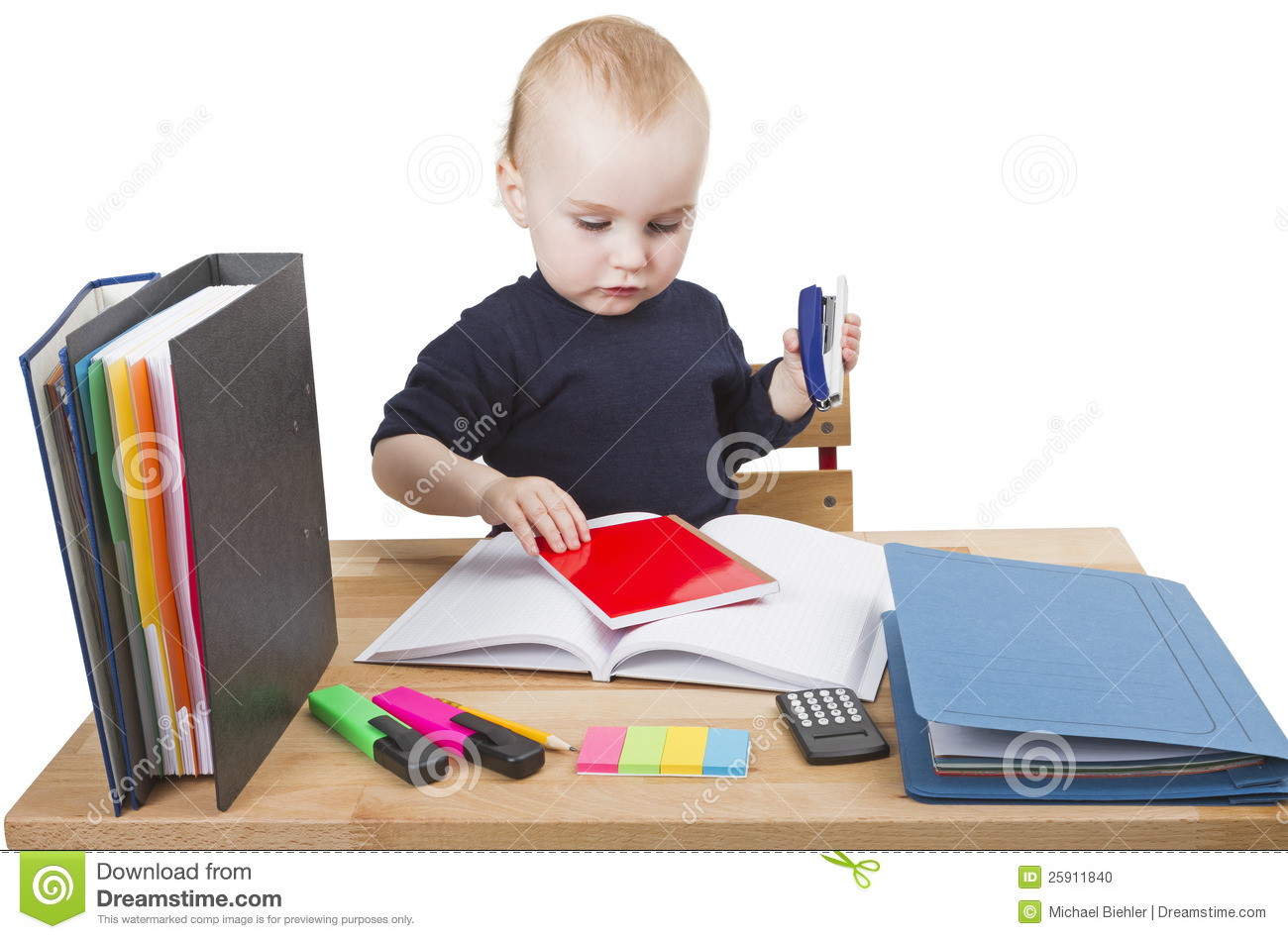 child at writing desk stock photo image 25911840
