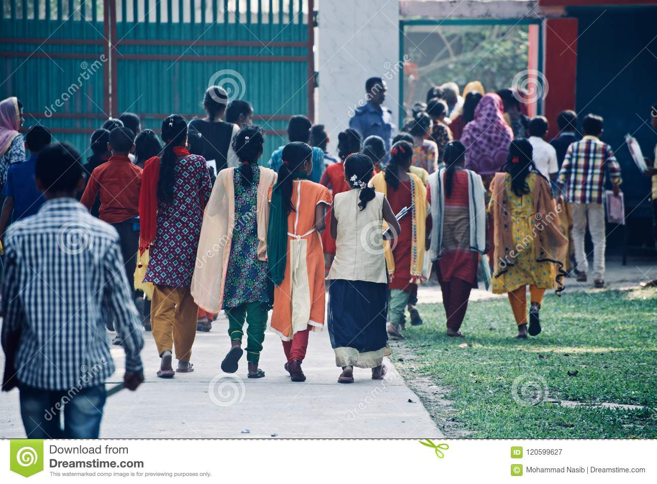 Download Young Children Of Bangladesh Walking Together Finishing The Final Examination Unique Editorial Photo Editorial Photography - Image of leaving, walking: 120599627