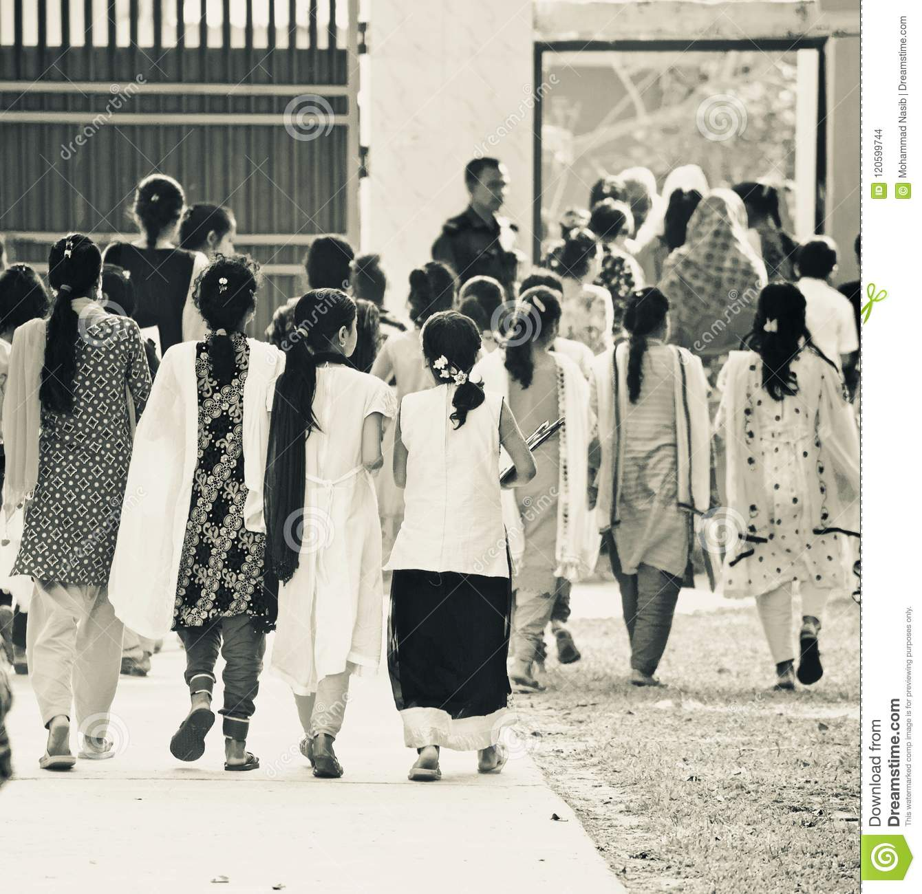 Download Young Children Of Bangladesh Walking Together Finishing The Final Examination Unique Editorial Photo Editorial Stock Image - Image of finishing, bangladeshi: 120599744