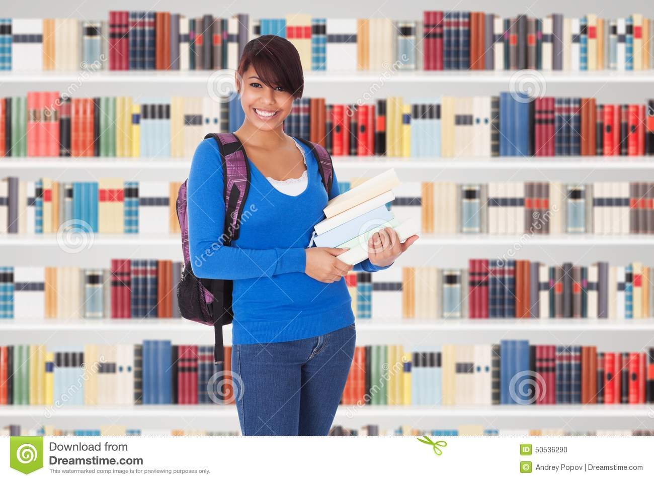 Young College Age Girl With Shopping Bags Stock Photo ...