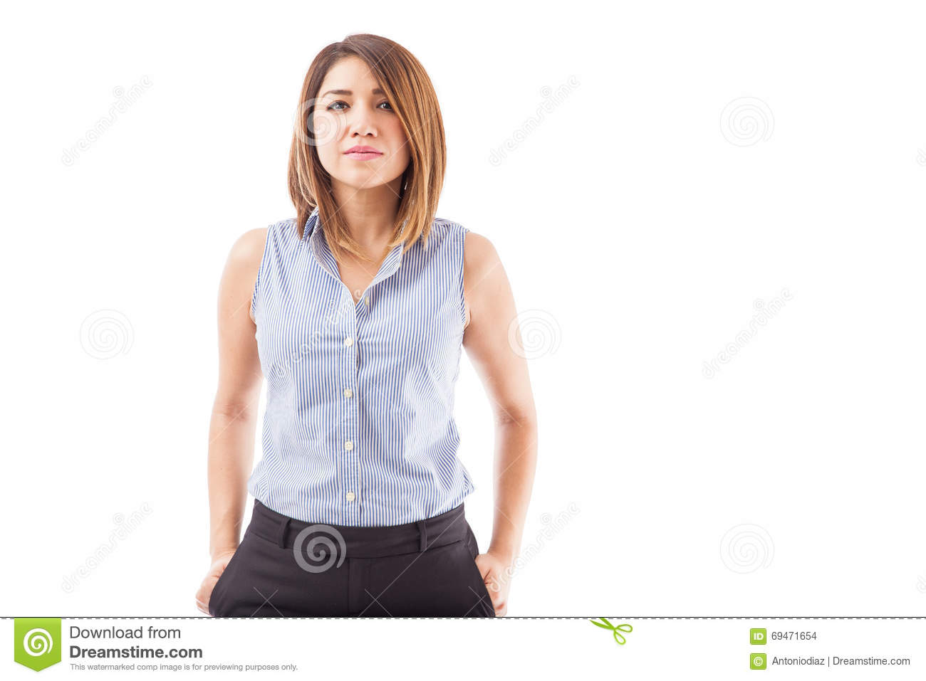 Young and confident businesswoman