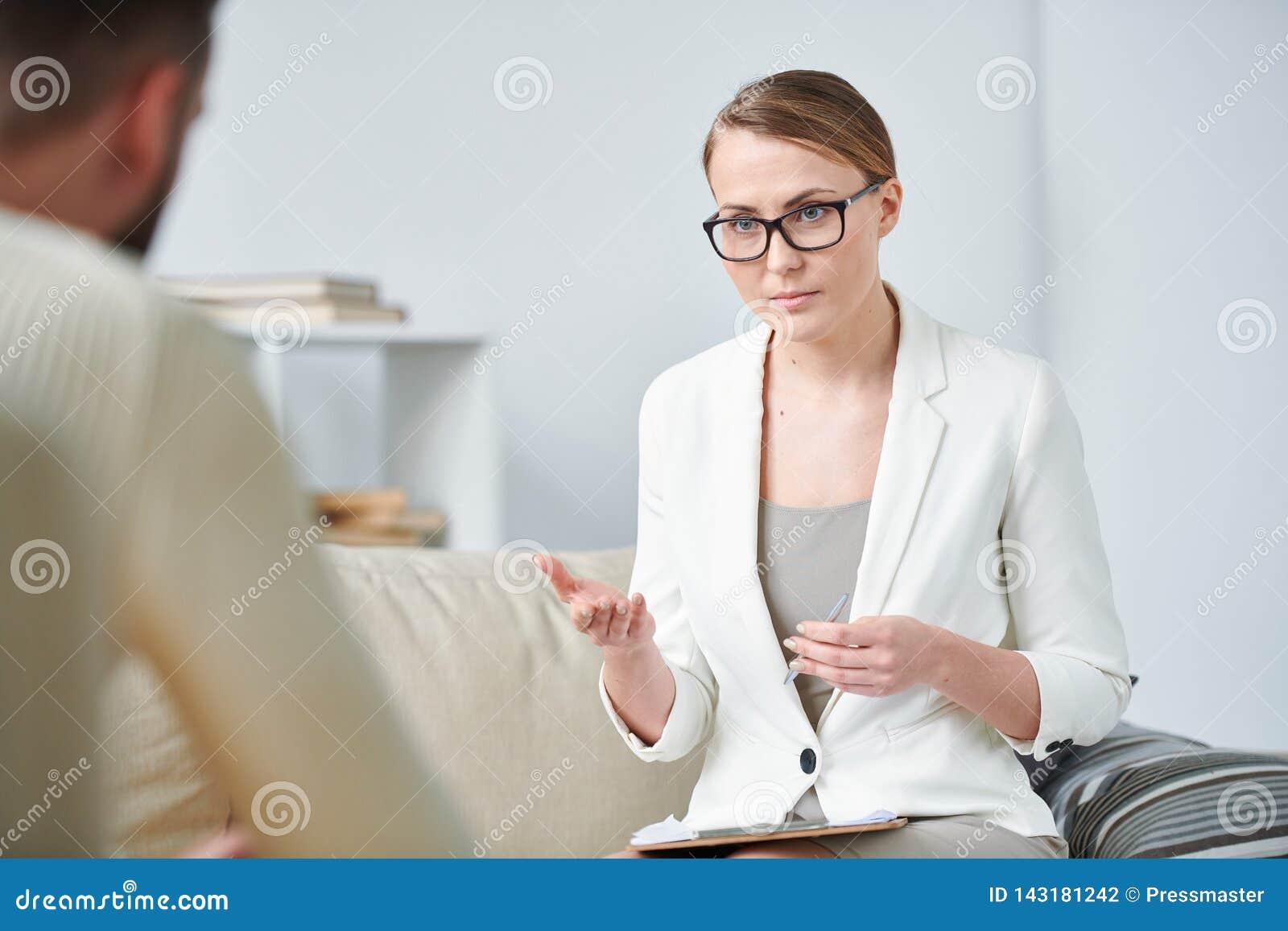 Female psychotherapist
