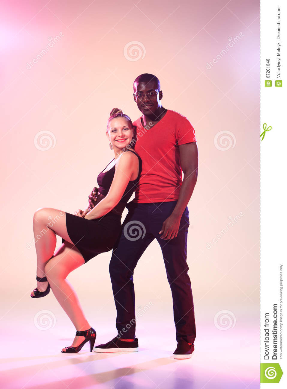 white girls with black men Young