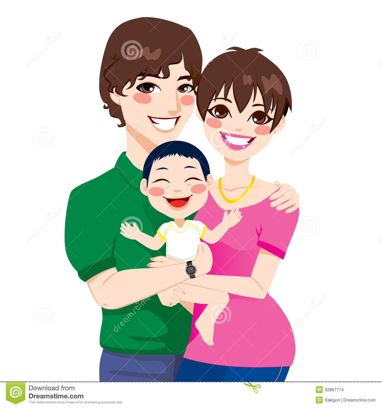 Young Couple Cartoon Young Couple Adopted C...