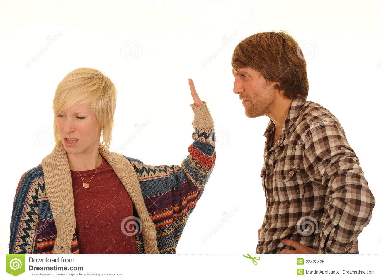 Young Couple Arguing Stock Image Image Of Body Auburn