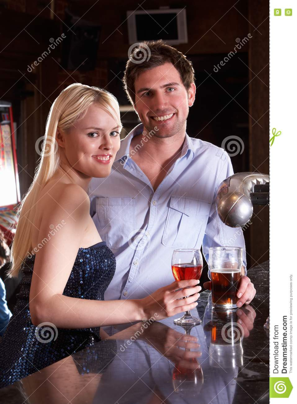 photo man and woman posing beside bar pics stock photos all sites: images small talk
