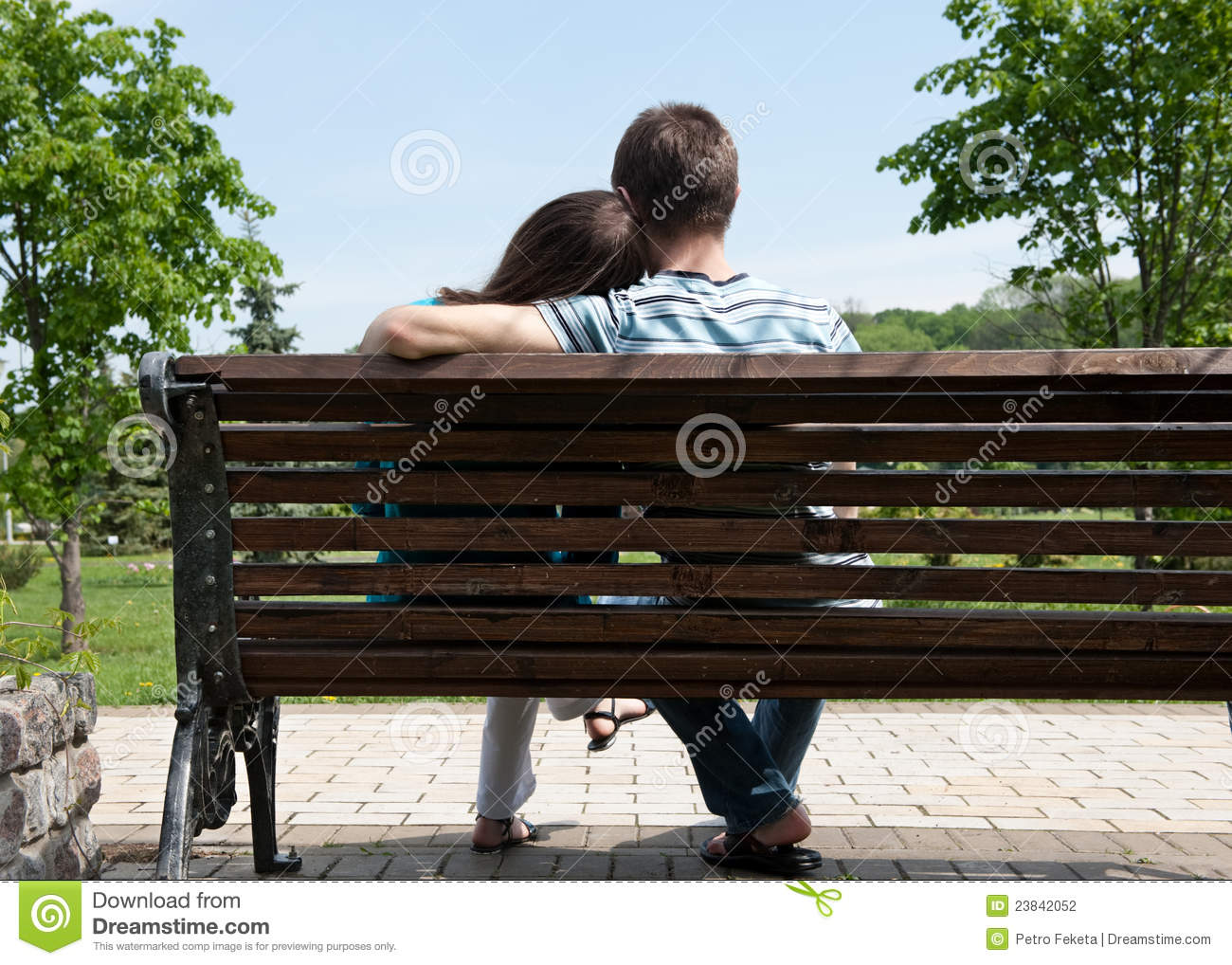 Young Couple On Bench Stock Photography - Image: 23842052
