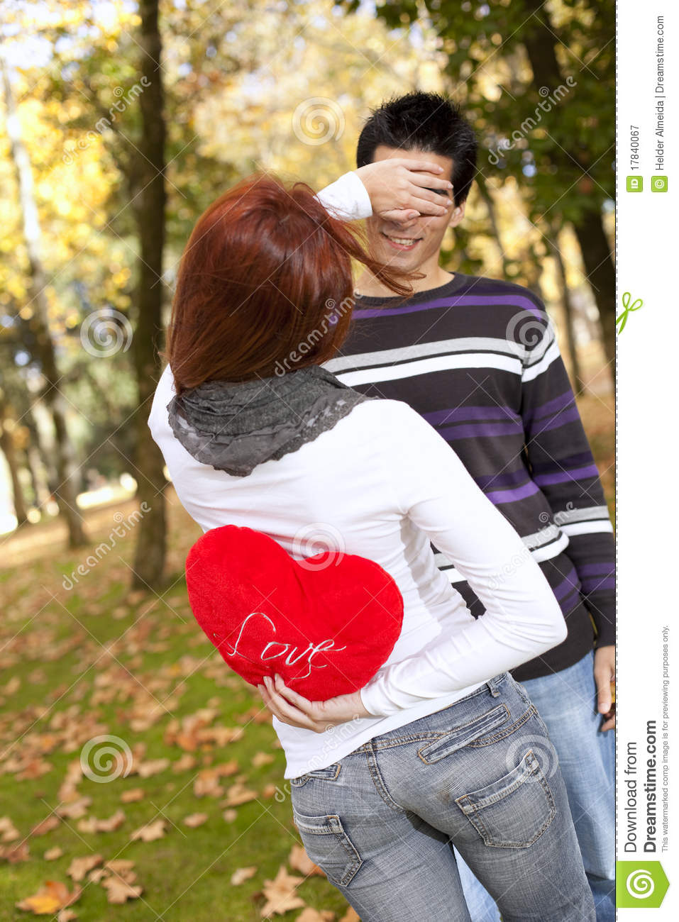 Young Couple Celebrating Valentine Day Stock Image Image Of Gift