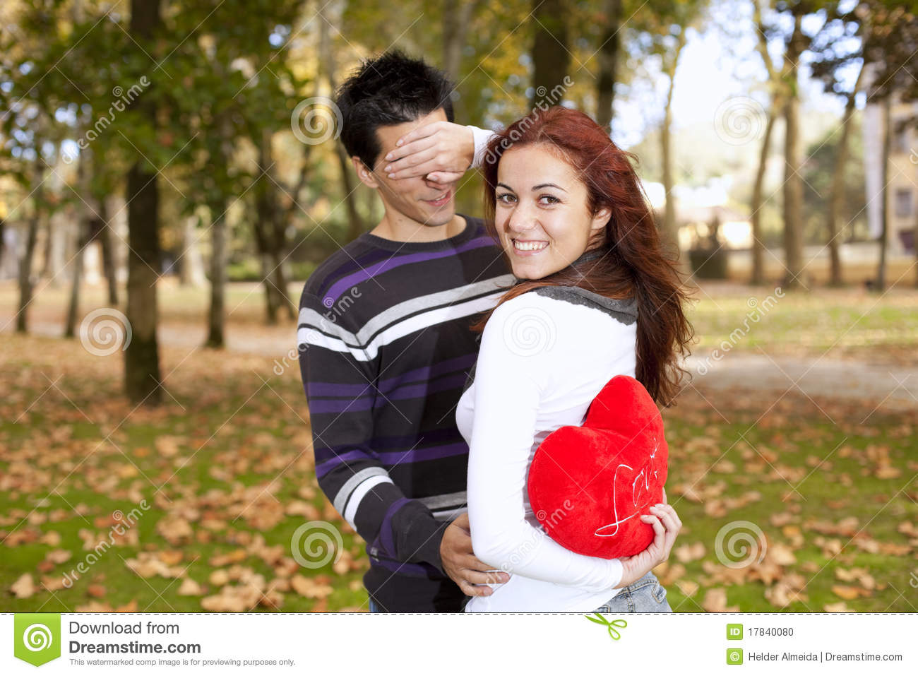 Young Couple Celebrating Valentine Day