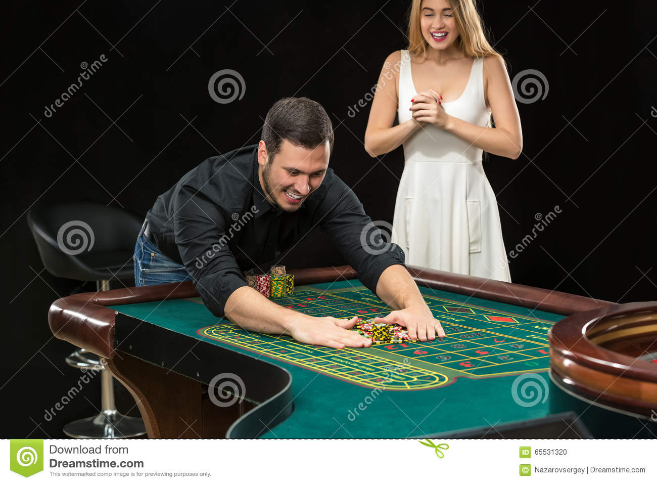Roulette table win