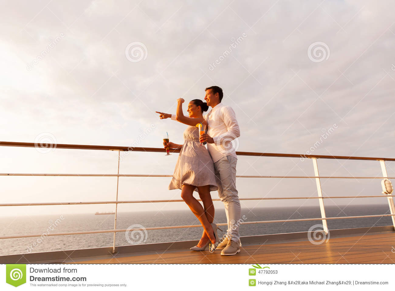 Young couple cruise