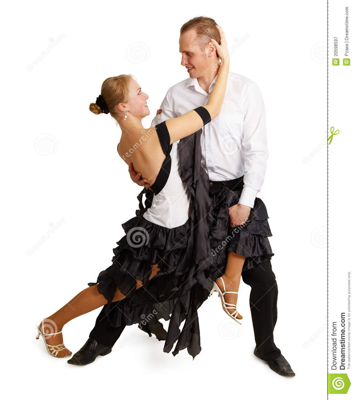 Young Couple Dancing Ballroom Dance Royalty Free Stock Photography ...