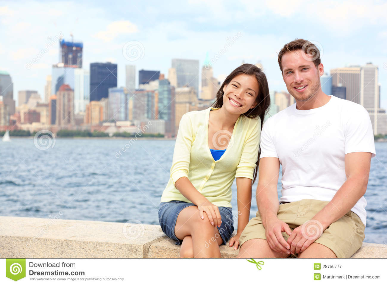 Young couple dating in new york stock image image of for Attractions in nyc for couples