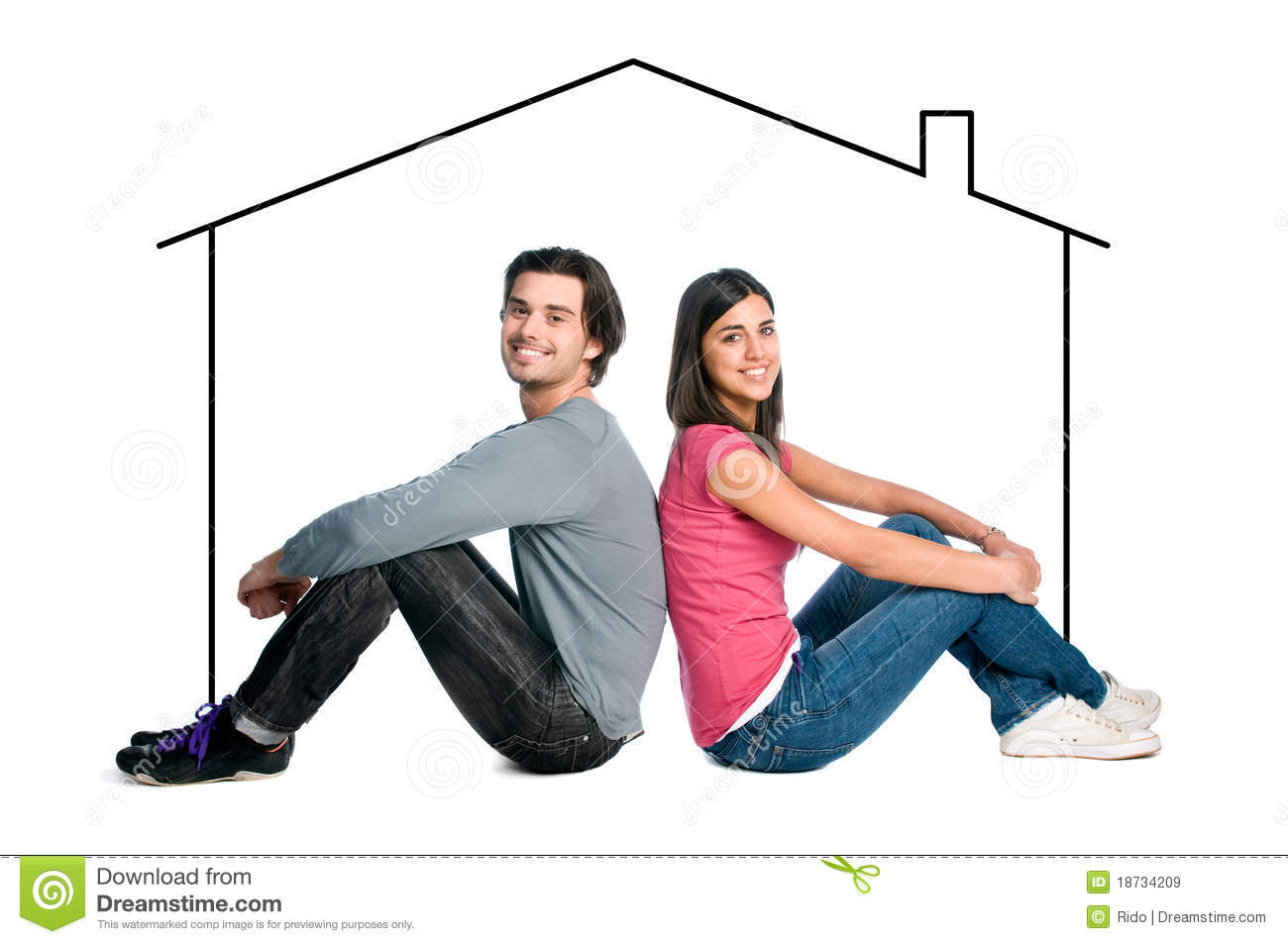 Young couple dreaming new house stock image image 18734209 - Young couple modern homes ...
