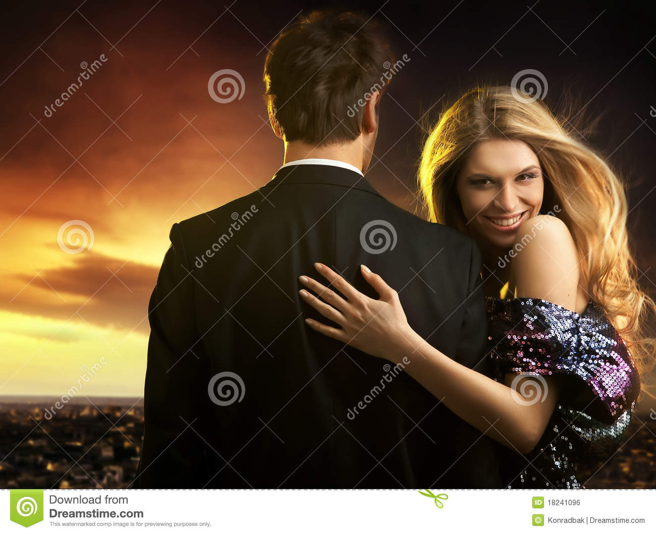 713eda4f4146f Young Couple In Elegant Evening Dresses Stock Photo - Image of ...