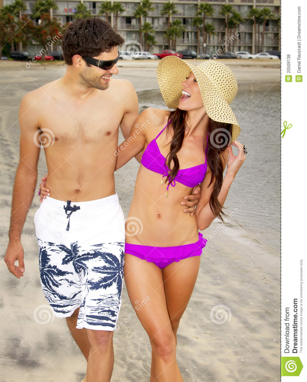 Couple At The Beach Stock Image Image Of Caucasian: Young Couple In Love At The Beach In San Diego Stock Photo