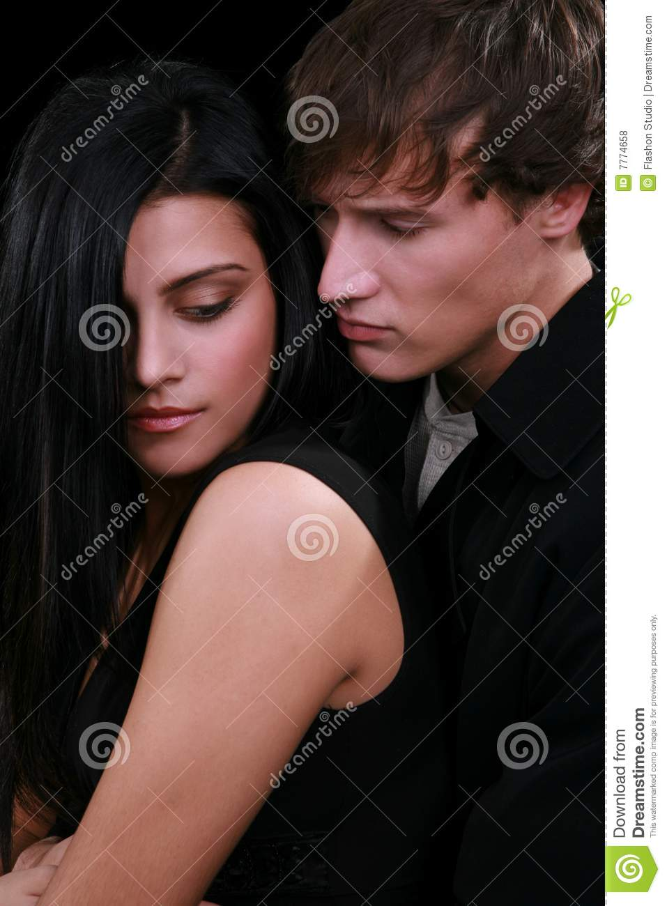 Young Couple Low Key Portrait Royalty Free Stock Photos