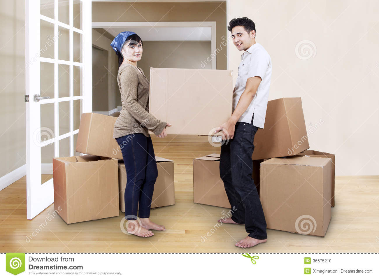 Young Couple Moving In New Home Stock Photo - Image: 36675210