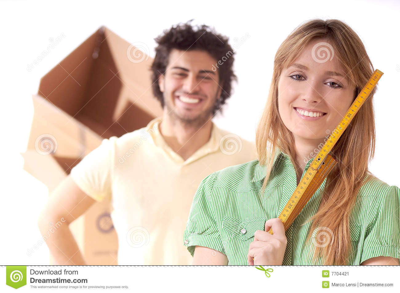 Young couple and new home stock image image 7704421 - Young couple modern homes ...