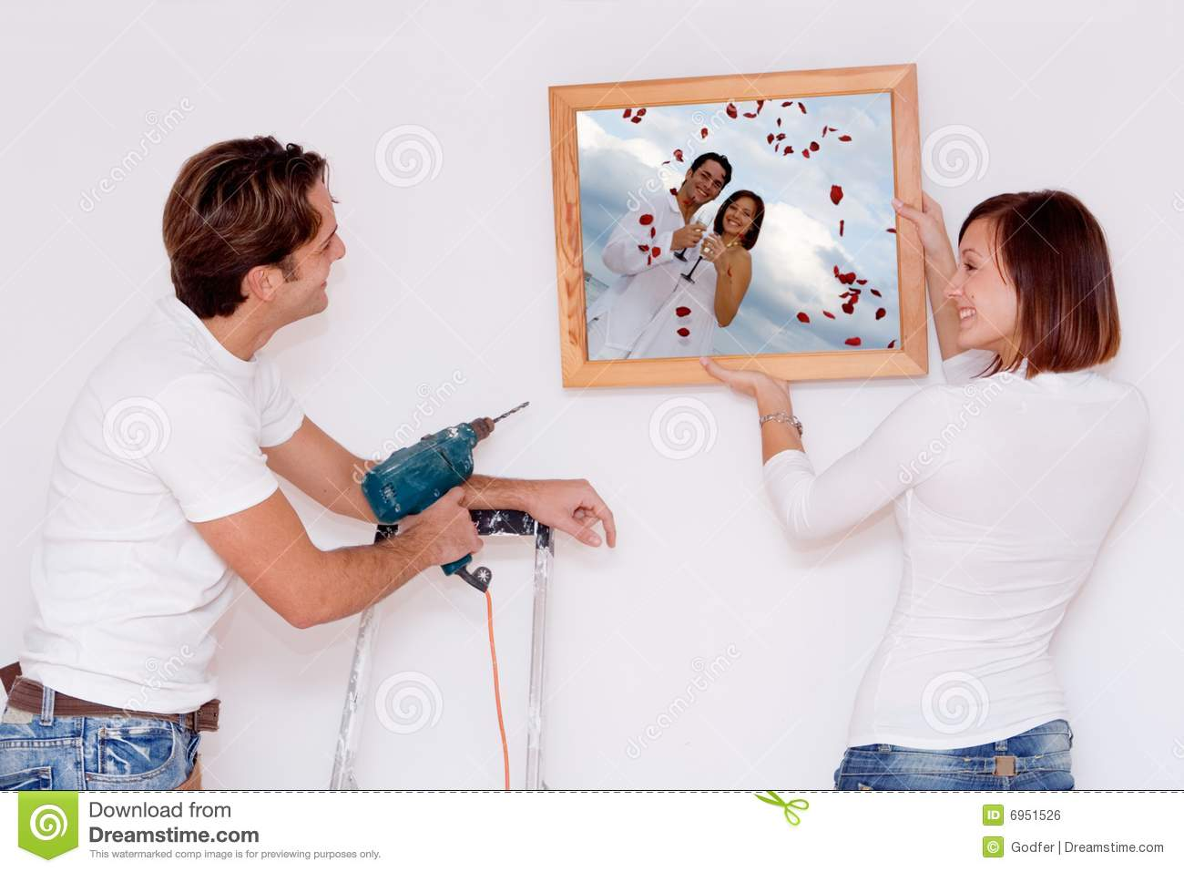 Young couple new home improvements royalty free stock image image 6951526 - Young couple modern homes ...