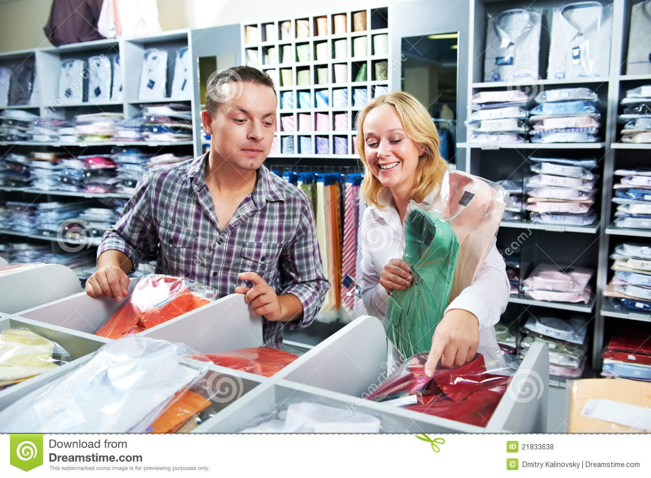 at clothes shopping royalty free stock