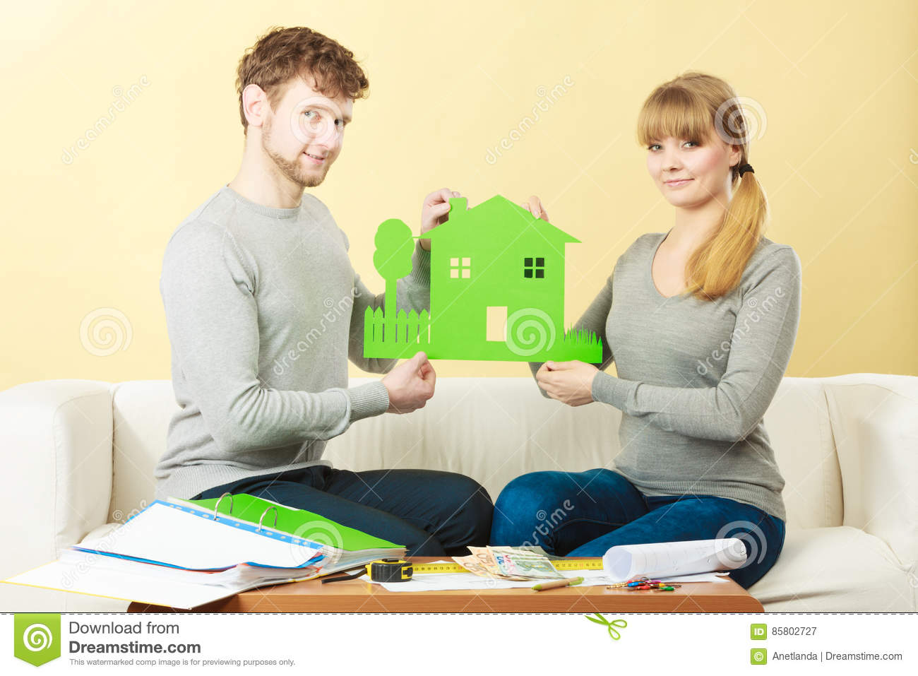 Couple planning future royalty free stock photography for Future planner online
