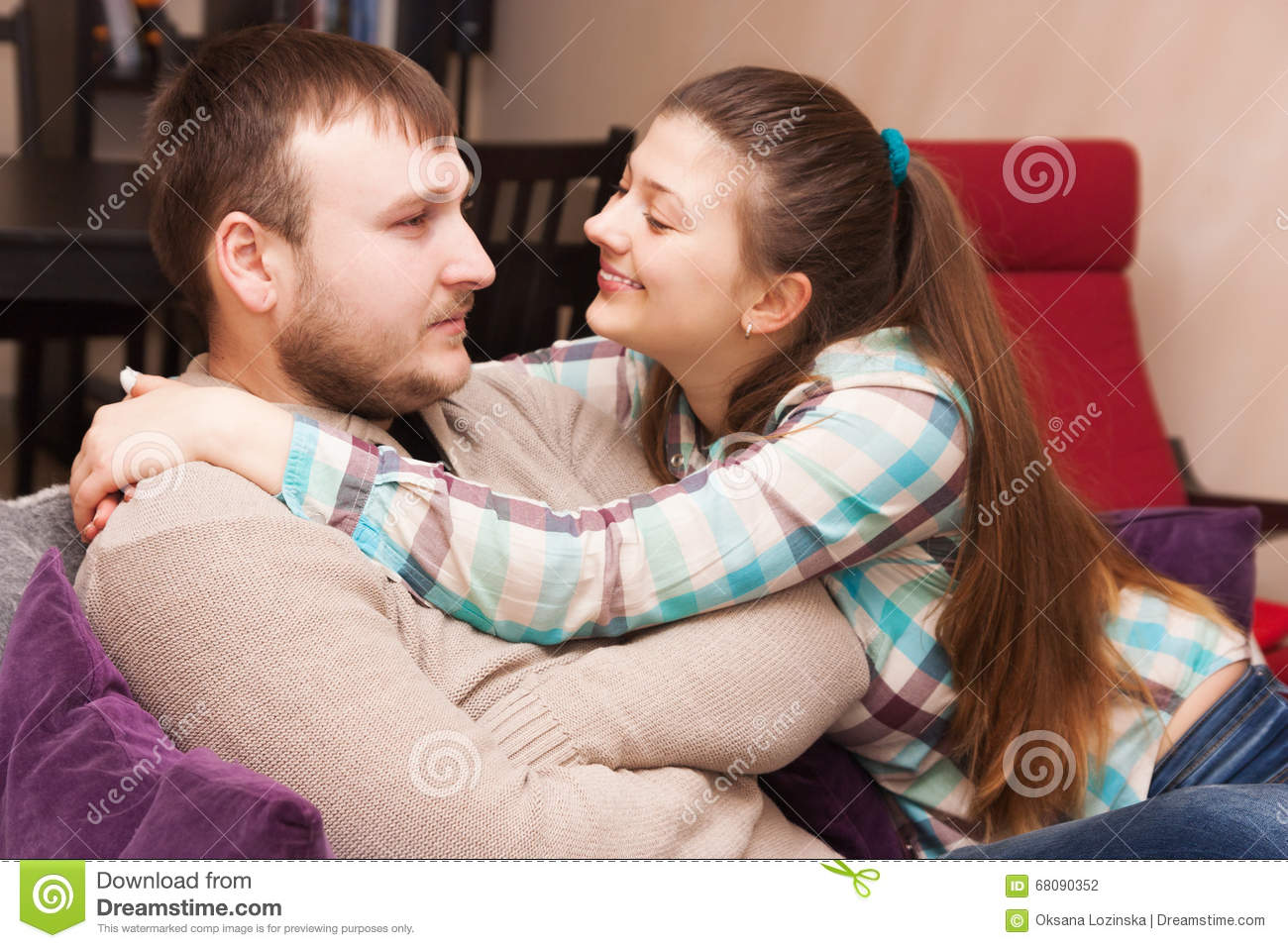 A young couple. Reconciliation after a conflictconflict