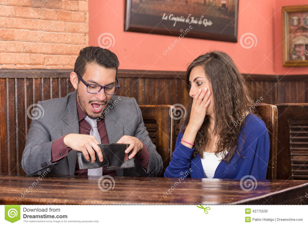 Young Couple In A Restaurant Stock Photo Image 42775530