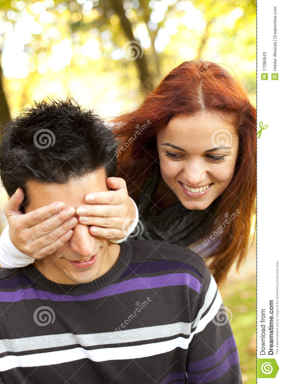 Young couple surprise