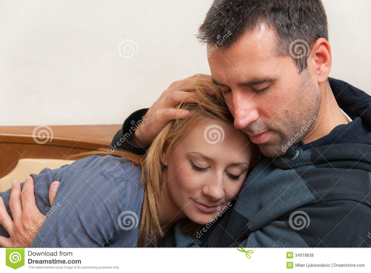 Royalty Free Stock Image Couple Kissing - Male Models Picture