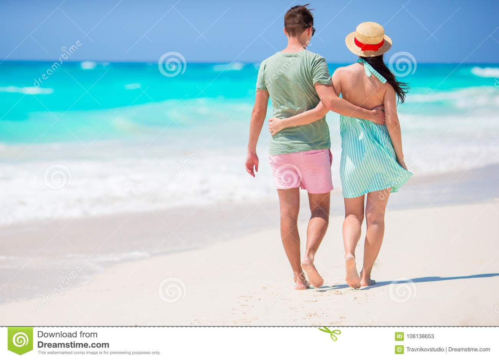 Couple enjoy their vacation
