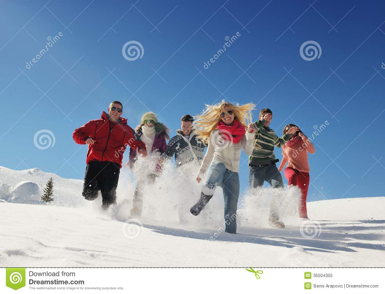 Young couple on winter vacation stock image image of for Winter vacations in us