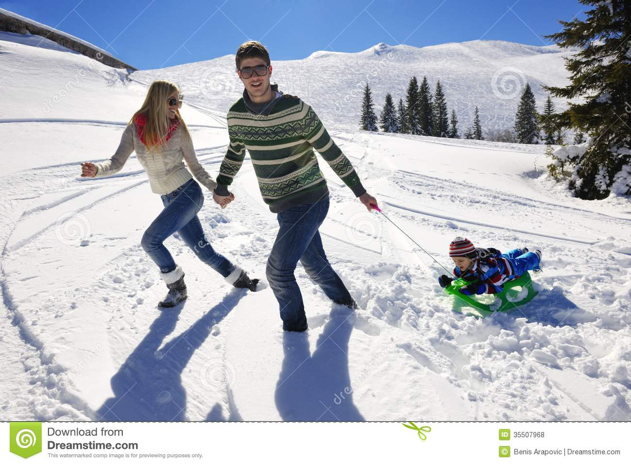 Young couple on winter vacation royalty free stock photos for Vacation in the snow