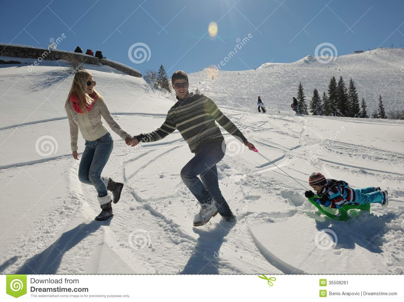 Young couple on winter vacation stock image image 35508261 for Vacation in the snow