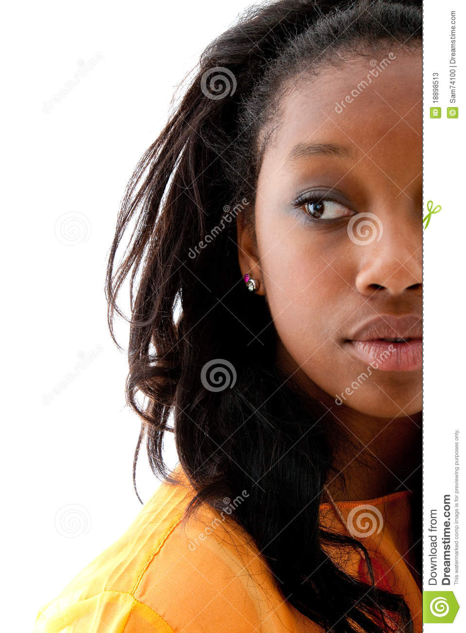Young Cute Black Woman Stock Image Image Of Adorable 18898513