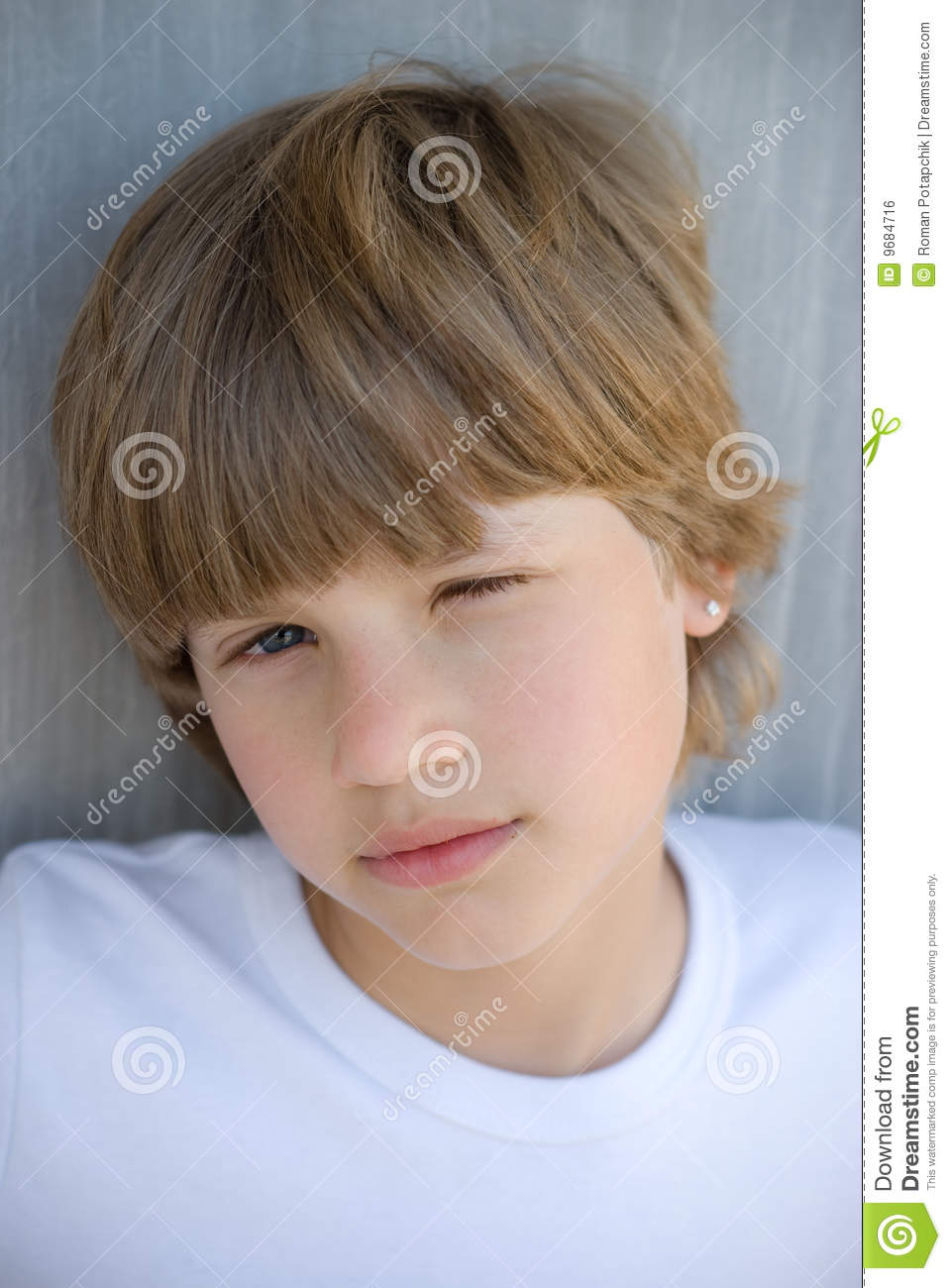 Young Cute Boy Royalty Free Stock Image Image 9684716