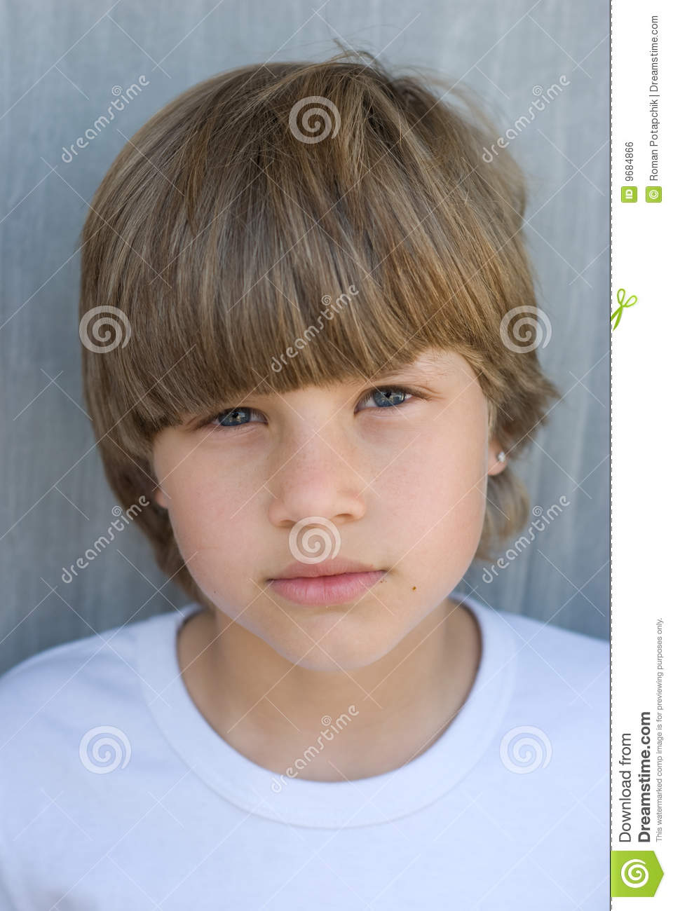 Young Cute Boy Stock Photo Image Of Hair Positive