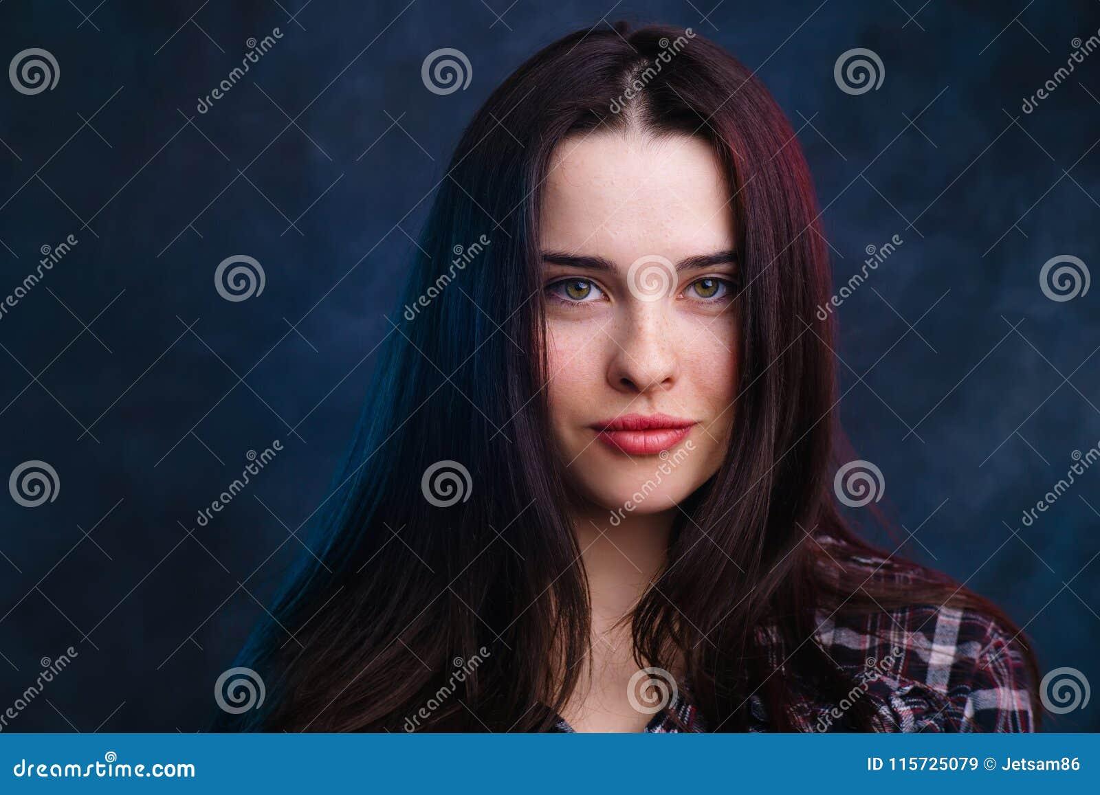 Young Cute Smiling Girl Studio Shoot. Natural Beauty f6280e362