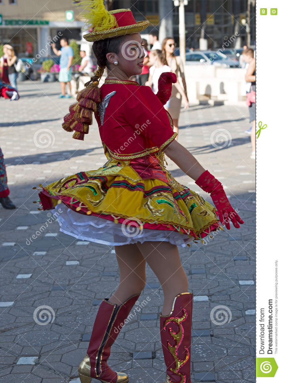 Young dancer from Chile in traditional costume 1