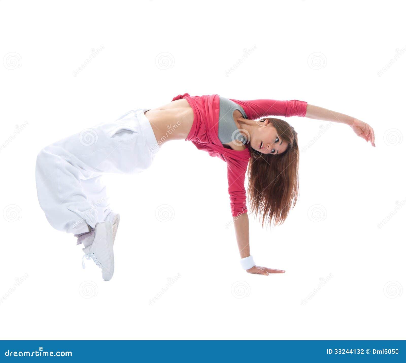 Young dancer girl exercise hip hop style pose stock photo 33244132 megapixl