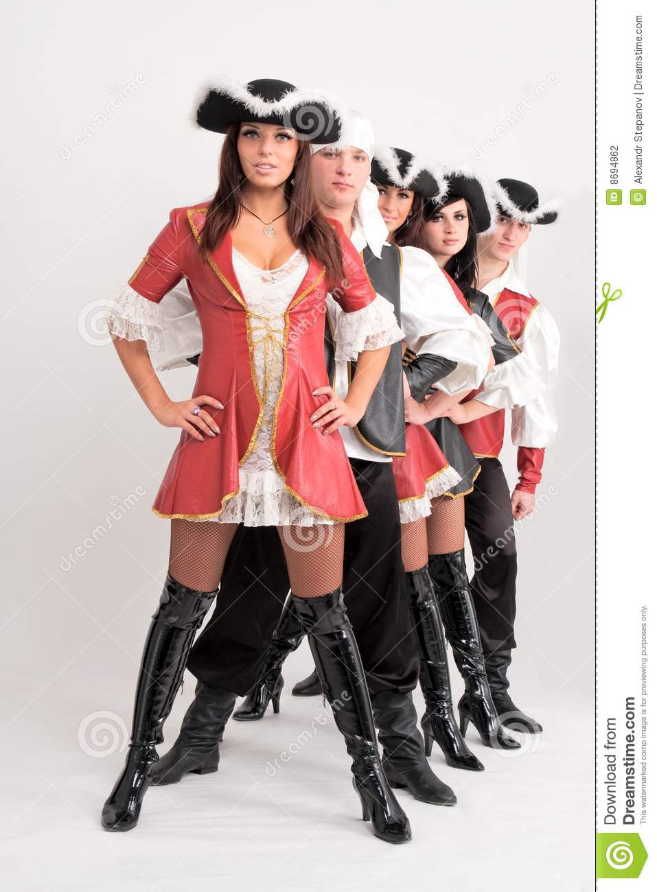 Young Dancers In Pirate Costumes Stock Photo Image Of