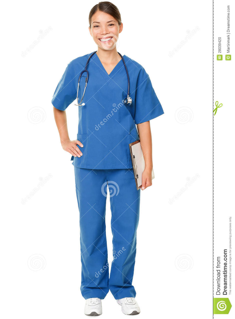 65cae2105fb Young Doctor In Blue Scrubs Stock Photo - Image of medical ...