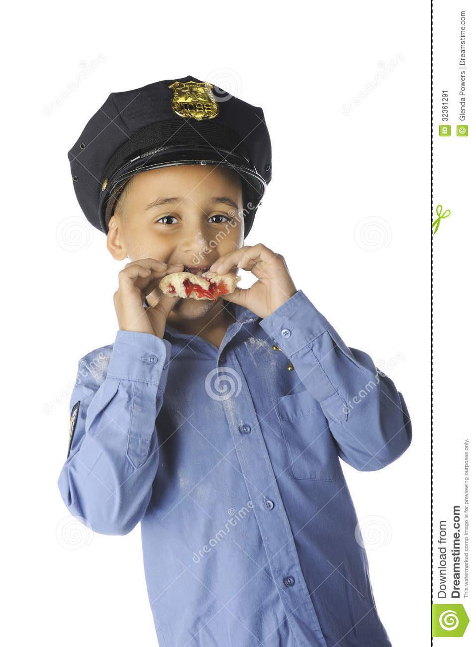 young donut-cop stock image  image of close  handsome