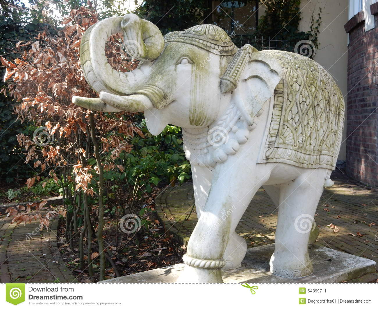 Delightful Royalty Free Stock Photo. Download Young Elephant Of White Stone ...
