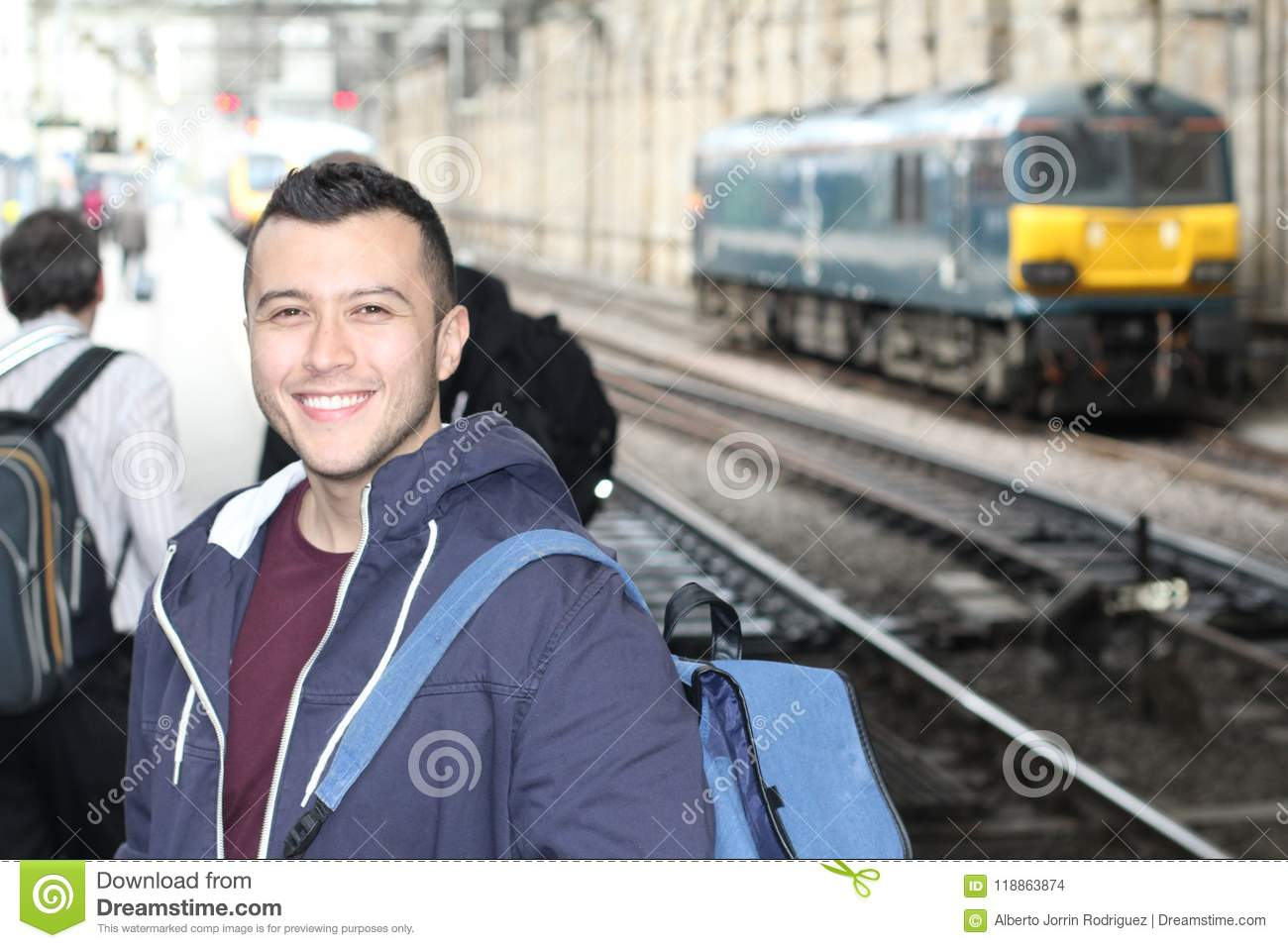 Young ethnic male during his everyday commute